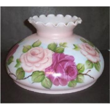 """64640 - Pink Floral Twelve"""" Student Lamp Shades X 8"""" Height."""