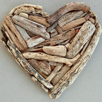 Driftwood Decor, Driftwood Heart, Door Decor Valentines Day Decor, Wooden Heart, Door Hanging, Beach Decor, Unique Wood Decor, Driftwood Art