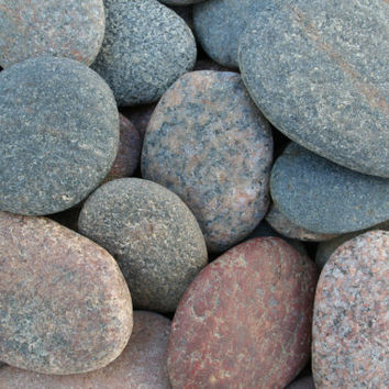 55 Flat Large Beach Stones Flat Sea Stones Wedding Stones Wishing Stones Wedding Guest Book