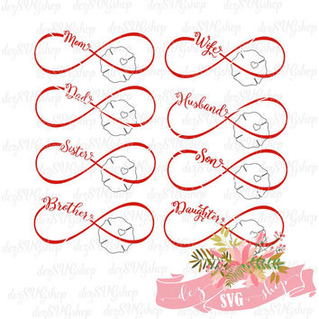 Firefighter Wife and entire family Infinity SVG | Fire Wife | Firefighter Mom | Cut File | SVG DXF | svg files for Silhouette & Cricut