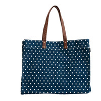 Dots Navy Carryall Tote