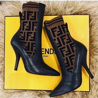 shosouvenir FENDI Socks type high heel shoes