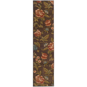 Oriental Weavers Emerson 1997A Brown/Green Floral Area Rug