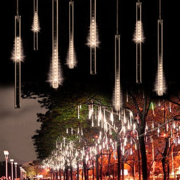 50CM Meteor Shower Rain Tubes LED Light For Christmas Wedding Garden Decoration 100-240V/EU Warm White AP = 1932755524