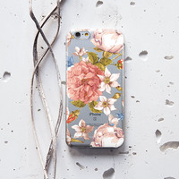 iPhone 6 Case Floral Samsung Galaxy S6 Case Silicone iPhone 6s Case Vintage iPhone 5s Case Rubber Samsung Galaxy S6 Edge Case Colorful 226