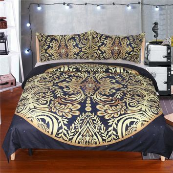 free shipping 3pcs Bohemian bedding sets Euro and American duvet cover style Fashion bedding sets