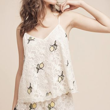 Floreat Lemon Lace Cami