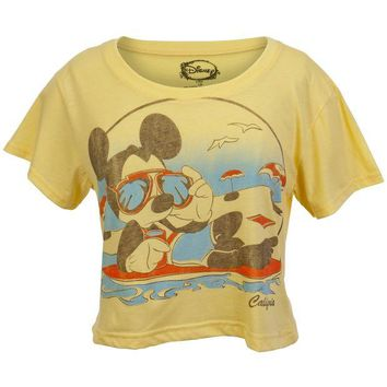 DCCKU3R Mickey Mouse - California Beach Juniors Half T-Shirt