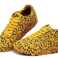 """NIKE"" King Return Fashion Leopard Yellow Casual Sports Shoes"