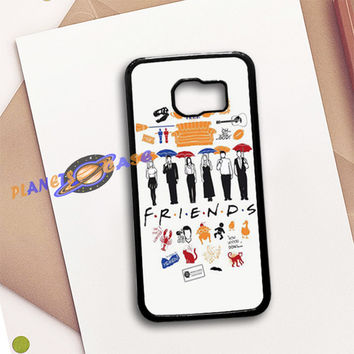 FRIENDS Collage Drawing Samsung Galaxy S6 Case Planetscase.com