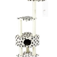 """52"""" CAT TREE CONDO FURNITURE SCRATCHPOST PET HOUSE 67-Paw"""