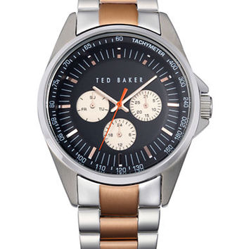 Ted Baker Mens Two Tone Multifunction Chronograph Watch