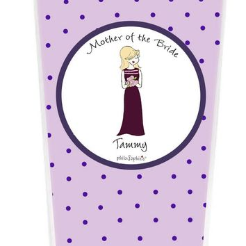 Bridal Party - Personalized Bridesmaid Dress Coffee Tumbler