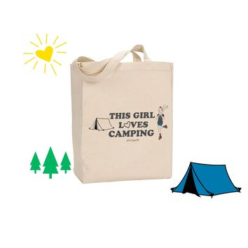 This Girl Loves Camping - philoSophie's Canvas Tote Bag