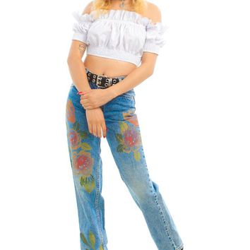 Vintage 90's Levi's Sunset Rose Mom Jeans - XS