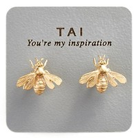 Women's Tai Stud Earrings - Gold