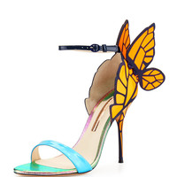 Chiara Butterfly Wing Sandal, Blue/Orange - Sophia Webster - Blue/Yellow