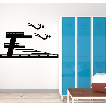 Vinyl Wall Decal Swimming Pool Water Swimmers Swim Sports Stickers Mural (g187)