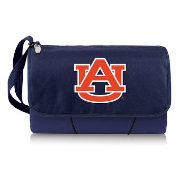 Auburn Tigers 'Blanket Tote' Outdoor Picnic Blanket-Navy Digital Print