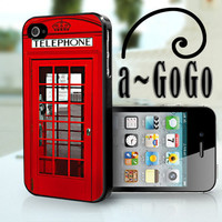 iPhone 4 case London Phone Box Design custom cell by aGoGoDesign