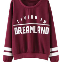 Burgundy Long Sleeve Sweatshirt