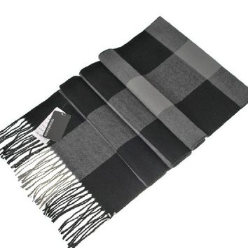 NEW! Cashmere Bandana Male Female Winter Scarf Men Wool Plaid Bandana Muffler Lovers Thick Thermal Double Faced