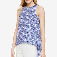 Women's Vince Camuto 'Nomad Stamp' High/Low Blouse,