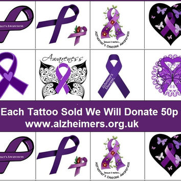 Alzheimer  Awareness Temporary Tattoos