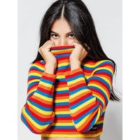 Rainbow Ribbed Sweater