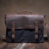 Canvas messenger bag - canvas shoulder bag - crossbody bag messenger - canvas messenger - canvas messenger bag men