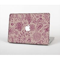 """The Puprle and Light Pink Sketched Lace Patterns v21 Skin Set for the Apple MacBook Air 11"""""""