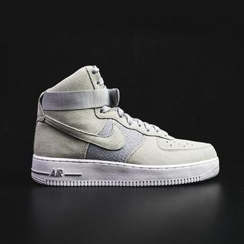 qiyif NIKE - Men - Air Force 1 High - Grey/White
