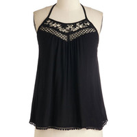 ModCloth Mid-length Halter Just a Bike Ride Away Top