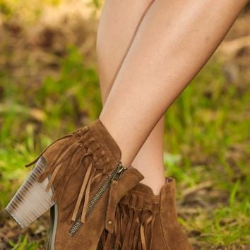 Cute From Head To Toe Booties-Taupe