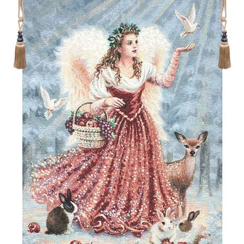 Christmas Angel Wall Hanging Tapestry