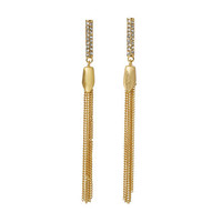 Vince Camuto Laguna Pave Tassel Earrings Brushed Gold/Crystal - Zappos.com Free Shipping BOTH Ways
