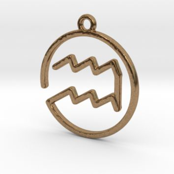 Aquarius Zodiac Pendant by Jilub on Shapeways