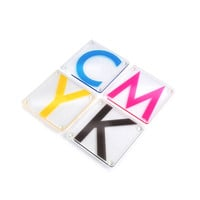 CMYK Color Coasters - Set of 4