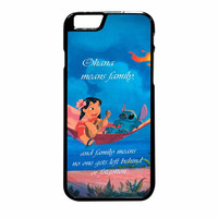 Lilo And Stitch Ohana Speak iPhone 6 Plus Case