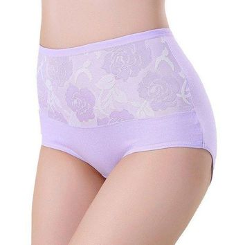 PEAPYV3 Sexy Women Lace Panties Fashion Designer Briefs High Waist Underwear Women's Panty