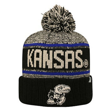 Adult Top of the World Kansas Jayhawks Heezy Skate Hat