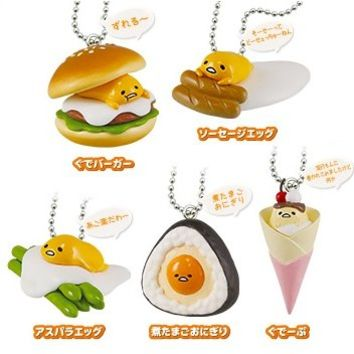 Gudetama Tabenaide Food Mascot (Set of 5 pieces)