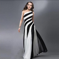 Fashion Prom Dress Ladies Sexy Sleeveless Backless Maxi Dress Formal Evening Party Date Cocktail Ball Gown Dress Bridesmaid Dress = 5841921985