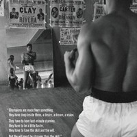 Muhammad Ali-Training in the Gym, Sports Poster Print, 24 by 36-Inch