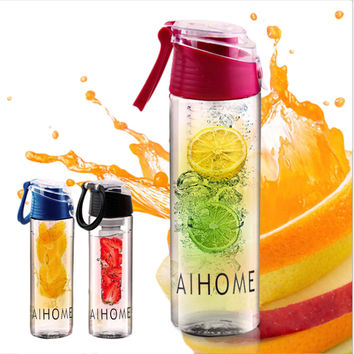 800ml Cycling Sport Fruit Infusing Infuser Water Bottle Juice Bicycle Healthy Eco-Friendly BPA Free