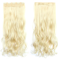120g One Piece 5 Cards Hair Extension Wig     613