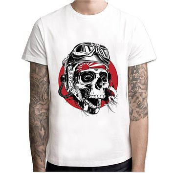 3d skull halloween t-shirt Men 2017 soul grim reaper skull dark cool Printed male Tops Tees Custom white mens t shirt