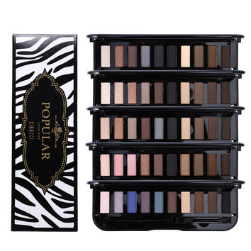 Brand Eye Makeup 6 Color Nude Shimmer Matte Eyeshadow Powder Palette Color Rich Popular Naked Eye Shadow With 2 Brushes