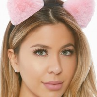 Plush Puff Kitty Cat Ears Headband