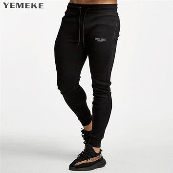 New Jogger Pants Men Cotton Patchwork Sweatpants Fitted Sweat Pants Men Active Casual Trousers Track Pants
